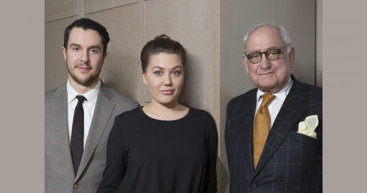 Left to right: Ross Alexander, Lauren Kruegel, Robert A.M. Stern